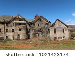large  unsafe abandoned...   Shutterstock . vector #1021423174