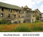 large  unsafe abandoned...   Shutterstock . vector #1021423180