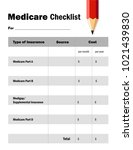 medicare checklist worksheet