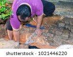 the water splatter in the form... | Shutterstock . vector #1021446220