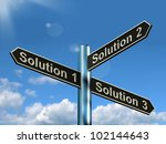 solution 1 2 or 3 choice shows... | Shutterstock . vector #102144643