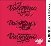valentinesday lettering... | Shutterstock .eps vector #1021460206