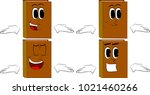 books shrugs shoulders... | Shutterstock .eps vector #1021460266
