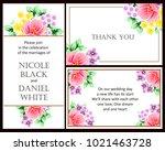 vintage delicate invitation... | Shutterstock .eps vector #1021463728