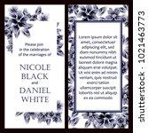 vintage delicate invitation... | Shutterstock .eps vector #1021463773