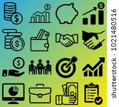 business vector icon set... | Shutterstock .eps vector #1021480516