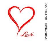 grunge sketch hand drawn red... | Shutterstock .eps vector #1021483720
