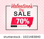 valentines day sale special...   Shutterstock .eps vector #1021483840