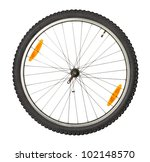 Bike Front Wheel Against White...