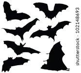 bat black silhouette...   Shutterstock .eps vector #102148693
