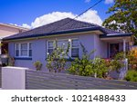 old australian suburban... | Shutterstock . vector #1021488433