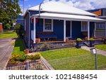 old australian suburban... | Shutterstock . vector #1021488454