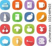 flat vector icon set   bio... | Shutterstock .eps vector #1021489603