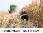 Young Farmer In Corn Fields