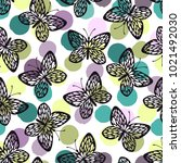 seamless pattern with...   Shutterstock .eps vector #1021492030