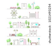 vector city activities... | Shutterstock .eps vector #1021493254
