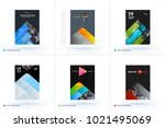 set of design of brochure ... | Shutterstock .eps vector #1021495069