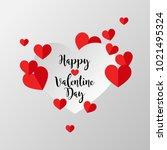 happy valentine's day  love...   Shutterstock .eps vector #1021495324