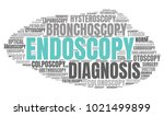endoscopy word cloud. vector... | Shutterstock .eps vector #1021499899