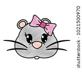 grated female mouse head cute... | Shutterstock .eps vector #1021500970