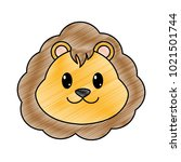 grated lion head cute animal... | Shutterstock .eps vector #1021501744
