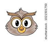 grated owl head cute animal... | Shutterstock .eps vector #1021501750