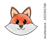 grated fox head cute animal... | Shutterstock .eps vector #1021501768