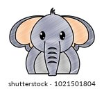 grated adorable elephant cute... | Shutterstock .eps vector #1021501804