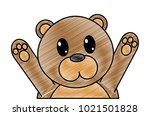 grated bear cute animal with... | Shutterstock .eps vector #1021501828