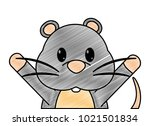 grated mouse cute animal with... | Shutterstock .eps vector #1021501834