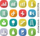 flat vector icon set   graph... | Shutterstock .eps vector #1021501996