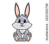 grated rabbit cute wild animal... | Shutterstock .eps vector #1021502758