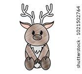grated reindeer cute wild... | Shutterstock .eps vector #1021502764