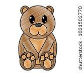 grated bear cute wild animal... | Shutterstock .eps vector #1021502770
