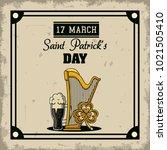 saint patricks day cartoons card   Shutterstock .eps vector #1021505410