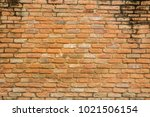 aged red bricks wall for... | Shutterstock . vector #1021506154
