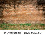 aged red bricks wall for... | Shutterstock . vector #1021506160