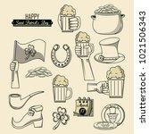 saint patricks day elements | Shutterstock .eps vector #1021506343