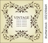 vintage frame design   Shutterstock .eps vector #102150664