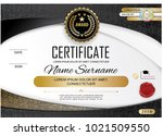 white official certificate with ... | Shutterstock .eps vector #1021509550