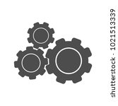 gear icon vector  flat design... | Shutterstock .eps vector #1021513339