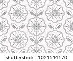 seamless floral pattern in... | Shutterstock .eps vector #1021514170