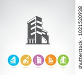 business building icons | Shutterstock .eps vector #1021520938