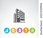 business building icons | Shutterstock .eps vector #1021520944