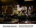 wedding table settings.wedding... | Shutterstock . vector #1021522159