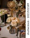 wedding table settings.wedding... | Shutterstock . vector #1021522189