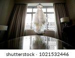 wedding dress. wedding dress on ... | Shutterstock . vector #1021532446
