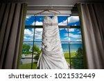 wedding dress. wedding dress on ... | Shutterstock . vector #1021532449