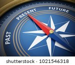 compass needle pointing present ... | Shutterstock . vector #1021546318