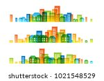 cityscape colorful decorations. ... | Shutterstock .eps vector #1021548529